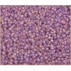 Seedbead Transparent Light Amethyst Matte Aurora Borealis 10/0